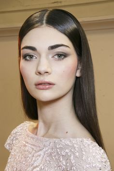 Antonina Vasylchenko backstage at Zuhair Murad Spring 2014 Couture ♥♥♥