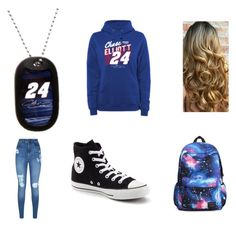 """""""Chase Elliott Fan"""" by munden2017 on Polyvore featuring Lipsy and Converse"""