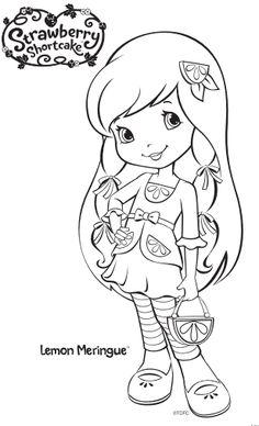 Strawberry Shortcake Lemon Meringue Coloring Page