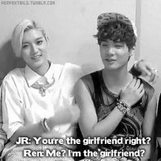 NUEST JR and Ren - adorbs <3