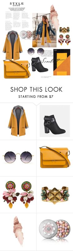 """Bez naslova #126"" by selma-97 ❤ liked on Polyvore featuring MELLOW YELLOW, WithChic, Avenue, Spitfire, Marni, Dolce&Gabbana, Nicole Romano, Maybelline and Guerlain"