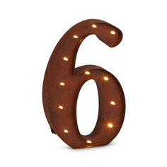 """12""""H Battery Operated LED Letter, Timer, Number 6"""