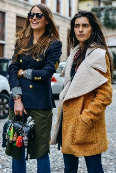 Tommy Ton Shoots the Best Street Style at the Fall '15 Shows | Carlotta Oddi + Chiara Totire