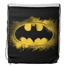 Batman Symbol | Black and Yellow Logo Drawstring Bag #drawstring #backpack