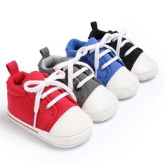 new concept 4b339 ad739 2017 New Baby Shoes Infant Toddler Pram Crib Girls Boys Lace-up Cavans  Padded Soft