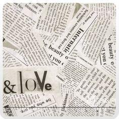 Collage - Newsprint Paper Yardage - Carrie Bloomston - Windham Fabrics