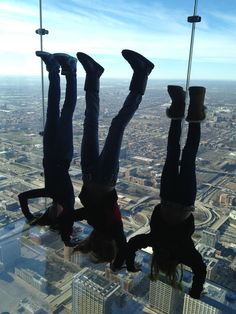 Willis Tower Skydeck - my 3 nieces!