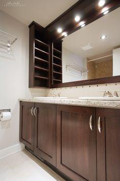 Bathroom Vanity Door Replacement bathroom lighting ideas | recessed downlights, double vanity and