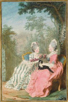 La comtesse de Boufflers et la duchesse de Lauzun 1769 Tome 3 N°17