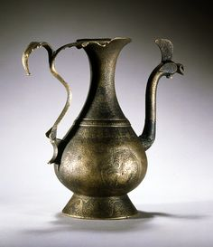 Ewer, cast and engraved bronze Spain, Andalusia; late century H: 22 cm 11th Century, Andalusia, Moorish, Islamic Art, Metal Working, Tea Pots, It Cast, Museum, Carving