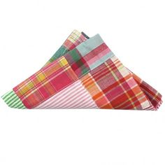 Madras Patchwork Pocket Square in Sea Island by Just Madras