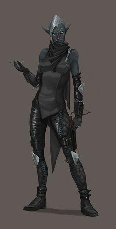 темный эльф,дроу,Dungeons & Dragons,Игры,frednought,Игровой арт,game art
