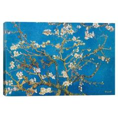 Evoke museum-worthy style in your living room or office with this gorgeous canvas print, showcasing Vincent van Gogh's Almond Blossom.   Product: Canvas printConstruction Material: Cotton, canvas and woodFeatures:  Reproduction based on work by Vincent van GoghReady to hangGallery-wrapped