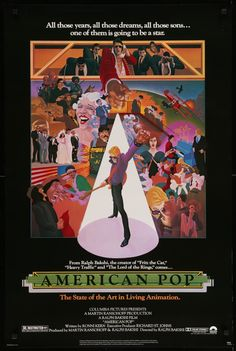 "Film: American Pop (1981) Year poster printed: 1981 Country: USA Size: 27""x41"" Artists: Wilson Mclean & Ralph Bakshi This is an original, unfolded one-sheet movie poster from 1981 for the animated roc"