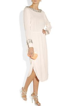 BY MALENE BIRGER - Livisa embellished crepe dress.