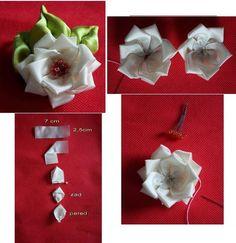 Bellart Atelier: Faça você mesmo: 6 flores de cetim.