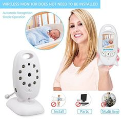Hollyson Digital Security Baby Monitor Videos Camera with Night Vision Temperature Monitoring and 2 Way Talk Talkback System -- Awesome products selected by Anna Churchill