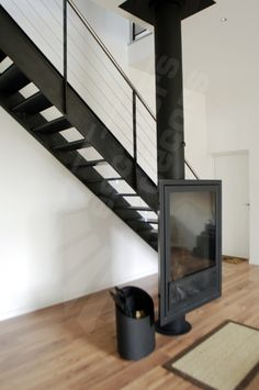 1000 images about escalier design on pinterest stairs metals and concrete - Rampe escalier cable acier ...
