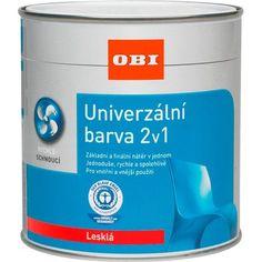 OBI Univerzálna farba 2v1 lesklá ohnivo červená 125 ml