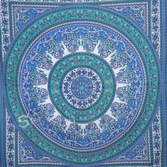 Blue paisley Hippie TapestryHippie Mandala Wall Hanging by Sparshh