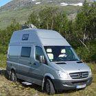 Impuls - Mercedes Sprinter Wohnmobil mit Hubbett