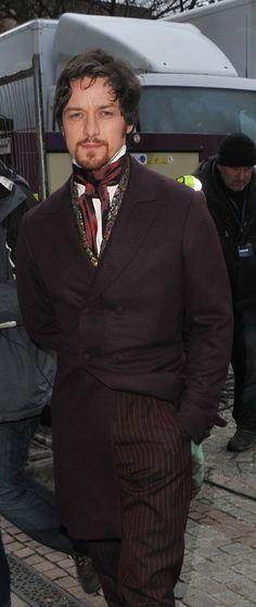 James McAvoy on set in Victor Frankenstein