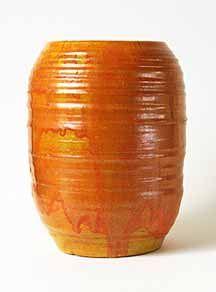 Orange Oxshott  pot. Denise Wren.