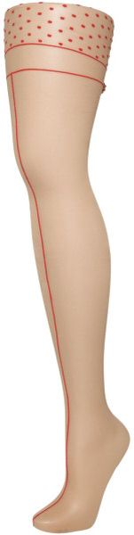 Front seamed tights featured on http//bootsshoesandfashion.com/10-hosiery-musts-for-the-summer-season/