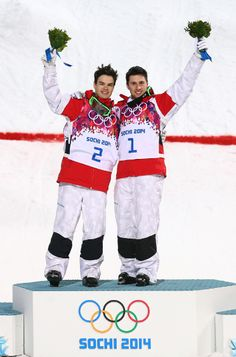 Alexandre Bilodeau Wins Gold, Mikael Kingsbury Silver In Olympic Moguls At Sochi. Proud to be Scandinavia, proud to be a québécois Youth Olympic Games, Olympic Team, Olympic Winners, Winter Olympics 2014, Freestyle Skiing, Soccer Pictures, Olympic Gold Medals, Olympic Athletes, Athletic Wear