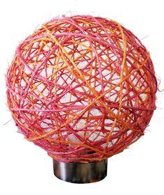 Velador Bola de luz EnReDaDoS por LmpEnReDaDoS en Etsy