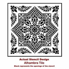 The Alhambra Tile Allover Stencil, is a Portuguese tile pattern, from Cutting Edge Stencils. http://www.cuttingedgestencils.com/alhambra-tile-stencil-asulejos-spanish-tile-wallpaper.html