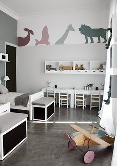 gray kids room