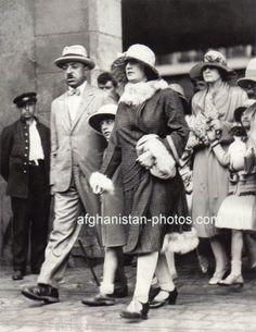 1919: Afghan royalty in Paris, France.