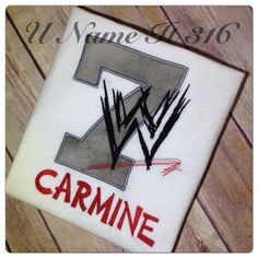 Hey, I found this really awesome Etsy listing at https://www.etsy.com/listing/155131548/wwe-birthday-shirt