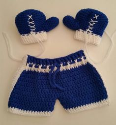 Baby Boxing Mini Gift Set Royal Blue 3-6 Mos