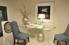 Bernhardt Acrylic and Glass Desk