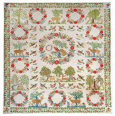 Antiques & Fine Art - Whitlock, Jan Textiles & Interiors - Important Southern Appique Quilt Top