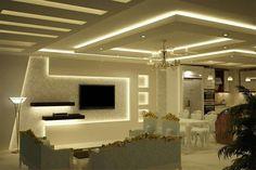 Gypsum Ceiling Design, House Ceiling Design, Ceiling Design Living Room, False Ceiling Living Room, Bedroom False Ceiling Design, Home Room Design, Living Room Lighting, Living Room Designs, Bathroom Lighting