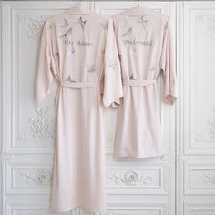 Personalised Bridesmaid Butterfly Short Dressing Gown by Mini Lunn, the perfect gift for Explore more unique gifts in our curated marketplace.