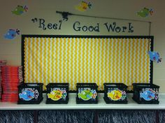 My new bulletin board this year. Great place to display work.