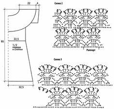 схема вязания и выкройка летнего платья