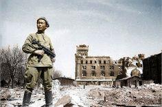 Soviet soldier in Germany 1945