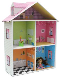 I'm getting ready to make a doll house for the girls, this one is beautiful and I'm quite certain some of those rooms will be duplicated in ours!
