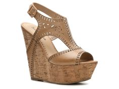 Love wedges, and tan is so neutral.