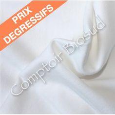 Bord côte 1X1 coton bio/Elastane largeur 155 cm Blanc cassé