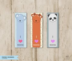 Back to school Printable Animal bookmarks-printable от MokileArt