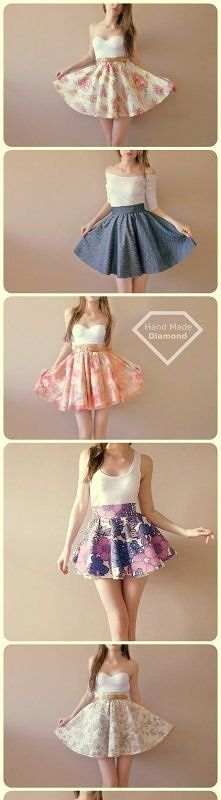 ✄ DIY skirt gorgeous, because who wants to cover up their legs wear frumpy ugly long skirts.