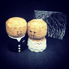 A classic black and white combination!  #corkbrideandgroom #wedding #caketopper #bride #groom #lace #mrandmrs #etsy #etsyshop #etsyseller