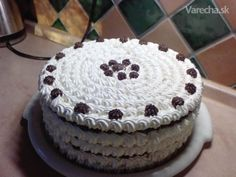 Penová torta I. Russian Recipes, Cake Decorating, Food And Drink, Ale, Sweets, Baking, Desserts, Tailgate Desserts, Deserts