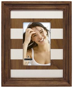 Brown Stripe Mat Picture Frame